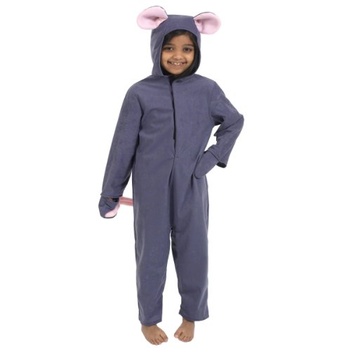 RetailZone (Fancy Dress) Grey Mouse Costume Rodent Animal 128Cm 6-8 Years - Cinderella Mice Costumes