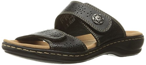 CLARKS Women's Leisa Lacole Slide Sandal, Black