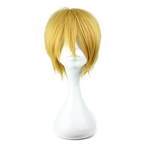 COSPLAZA Cosplay Wig Short Spiky Heat Resistant Adult Synthetic Hair Yellow -