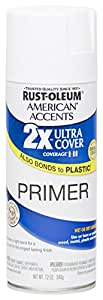 Rust Oleum 280715 American Accents Ultra Cover 2X Spray Paint, White Primer, 12-Ounce
