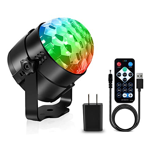 AOMEES Disco Light Party Lights Disco Ball LED Strobe Lights Sound Activated Dance Light Stage DJ Lighting for Home Kids Birthday Parties Festival Holiday Decorations Karaoke Bar Club (with USB) -