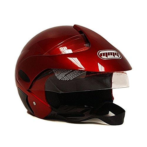 Burgundy Motorcycle Helmet - 3