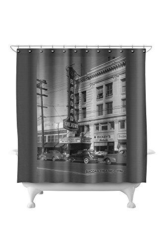 Seattle, WA - Bagdad Theatre in Ballard (71x74 Polyester Shower Curtain) ()