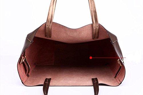 Shoulder Inner Bag Simple Cowhide Hand Handbag Ms Handbag Leather Fashion JPFCAK Grey Bag Bags xqnTSzW