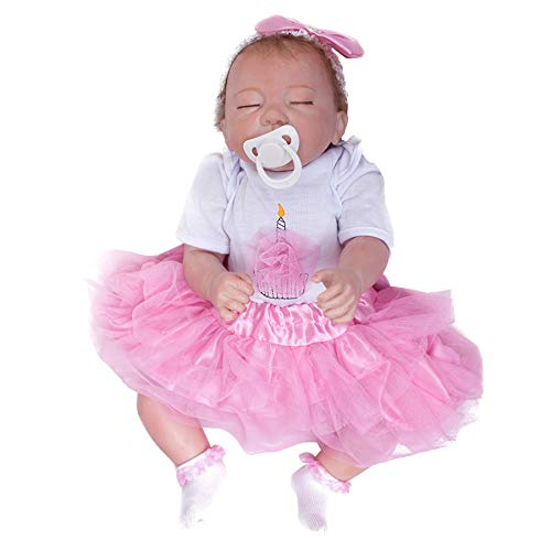 Wamdoll Real Life Pretty As a Princess Sleepy Silicone Vinyl Reborn Baby Girl Dolls