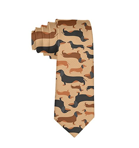 Business Retro Dachshunds Necktie Skinny Tie Gift Mens Teens