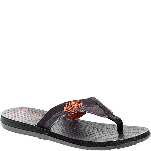 Sandalias Footwear De Sintético Negro davidson Hombre Harley Para qwxEz5xa