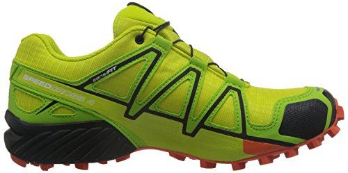 Salomon Speedcross 4 Gtx, Zapatillas De Trail Running Para Hombre Verde (Sulphur Spring/Lime Green/Flame)
