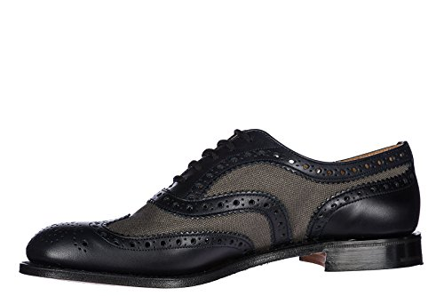 CHURCH'S Scarpe Stringate Classiche Uomo in Pelle Nuove Burwood Brogue Blu EU 44 EEB0639ACIF0AXQ