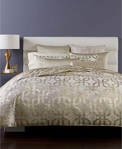 Hotel Collection Fresco Gold Woven Jacquard Geometric Full Queen Comforter ()