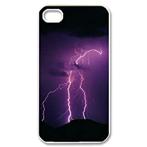 LIGHTNING CHA6050476 Phone Back Case Customized Art Print Design Hard Shell Protection Iphone 4,4S