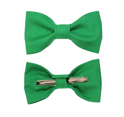 Toddler Boy 4T 5T Green Clip On Cotton Bow Tie Bowtie by amy2004marie