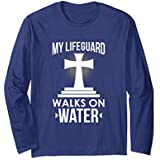 Unisex My Lifeguard Walks On Water Church Volunteer T-Shirt Large Navy