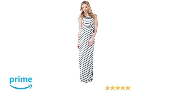 447c2e5cd952a Ripe Maternity Striped Side Tie Maxi Dress - Seafoam/Steel - Large at  Amazon Women's Clothing store: