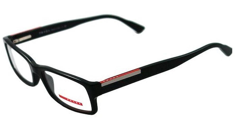 b4d9502ed34a Amazon.com  Prada Eyeglasses VPS 10A BLACK 1AB-1O1 VPR10A  Prada  Shoes