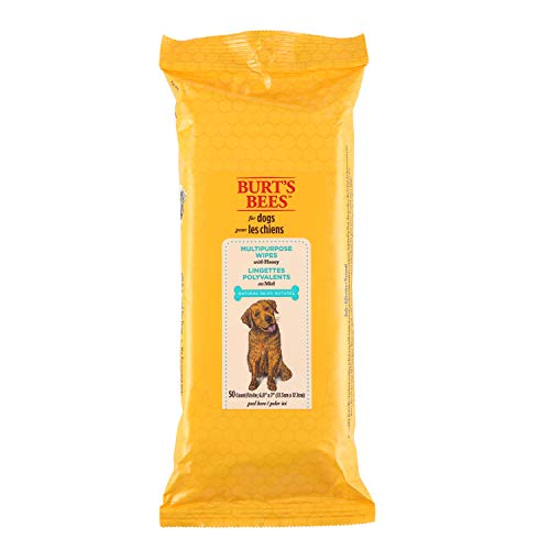 - Burt's Bees For Dogs Multipurpose Grooming Wipes | Puppy and Dog Wipes For Cleaning, 50 Count