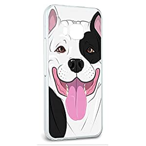 Snap On Protective Slim Hard Case for HTC One M9 Pit Bull Dog Designs - Black White American Staffordshire Pit Bull Dog