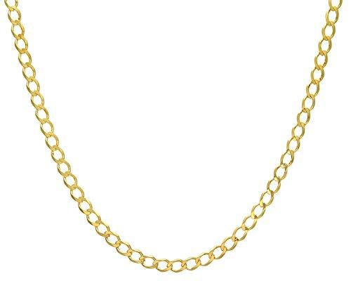 Revoni Bague en or jaune 9carats-18,8G-Collier Femme-Maille Gourmette, longueur 56cm/55,9cm, Largeur: 6.2mm