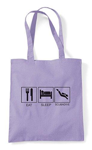 Shopper Activity Bag Funny Lavender Scubadive Eat Tiles Sleep Hobby Tote 6wXS1Oq