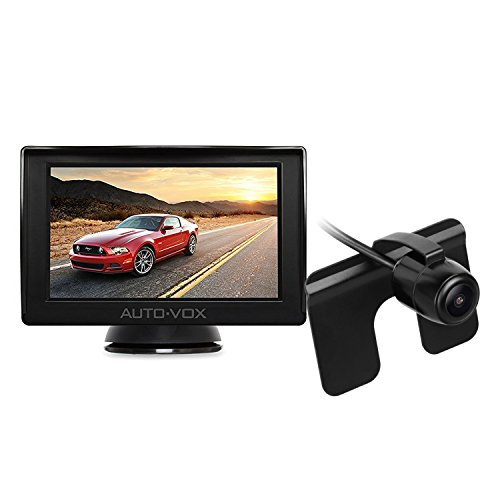 AUTO-VOX M1 Backup Camera Kit Rear View Back Up Car Camera IP68 Waterproof Super Night Vision, 4.3'' TFT LCD Rear View Monitor Parking Assistance System with One Wire Easy Installation