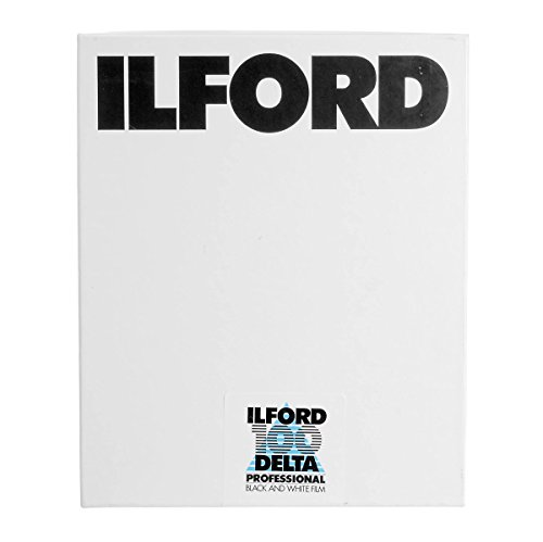Ilford Delta-100 Professional 4x5in. 100 Sheets B&W Negative Film (ISO-100) by Ilford