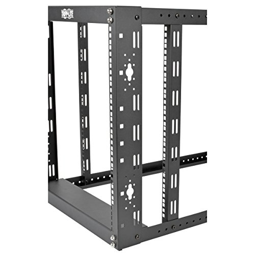 Tripp lite 12u 4 post open frame rack server cabinet floor for 12u floor standing cabinet