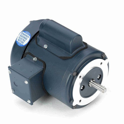 Leeson Electric 102661.00 - General Purpose Motor - 1 ph, 0.16 hp, 1800 rpm, 115/208-230 V, 48CZ Frame, Totally Enclosed Fan Cooled Enclosure, 60 Hz, Round ()