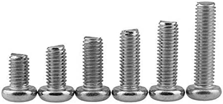 M2x40 Cyful 60pcs 304 Stainless Steel Round Pan Head Phillips Full Thread Screws Silver