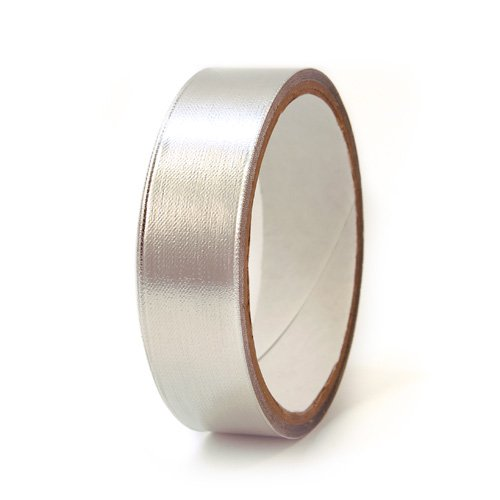 CS Hyde Aluminum Foil / Fiberglass with Silicone Adhesive, No Liner, 11mm Thick, Silver, 1'' Width x 5 Yard Roll
