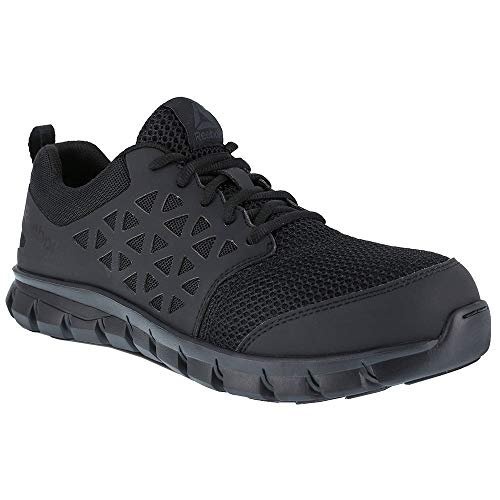 Reebok Work Men's Sublite Cushion Work Comp Toe ESD Black 11.5 E US