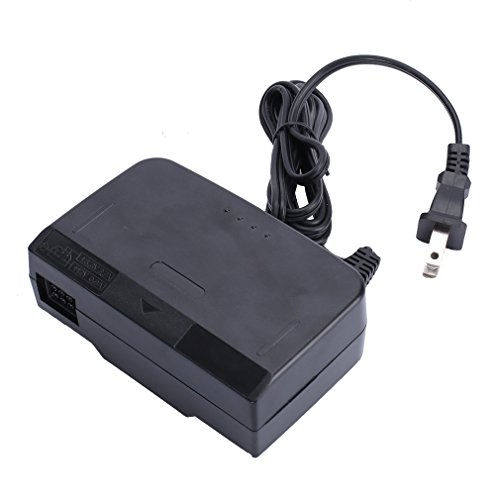 Hopze Ac Adapter Power Supply For Nintendo 64 Replacement Travel Charger  Black