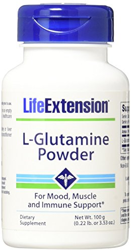Life Extension L Glutamine Powder, 100 Gram (Grams Glutamine Powder)