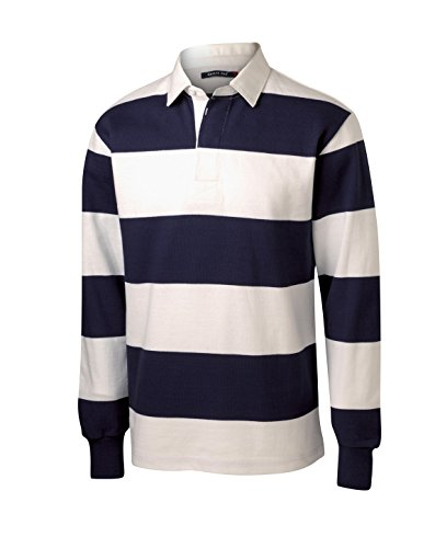 Sport-Tek Men's Long Sleeve Rugby Polo S True -