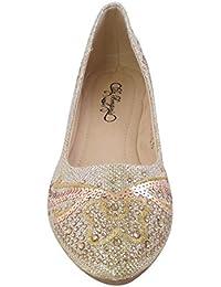 SQ-32 Womens Ballet Flats Pointed Toe GOLD WOMEN