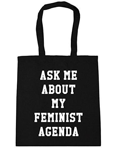 Amazon.com: Unique Bag Ask me about my feminist agenda Tote ...