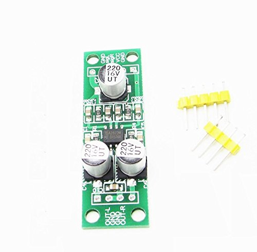 Exiron 2 PCS TDA2822 2 X 1.5W Dual Channel Stereo Audio Amplifier Board Module by Exiron