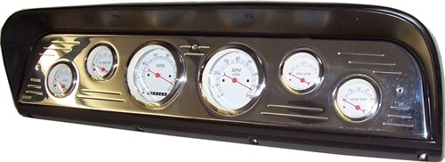 67-72 Ford Truck 6 Gauge Dash Insert - No Gauges - Just Panel (1970 Ford Truck Parts)