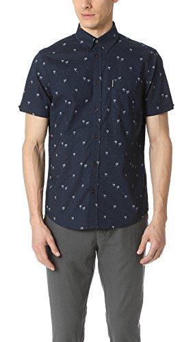 ben-sherman-mens-woven-short-sleeve-modern-pt-shirt-navy-blazer-medium