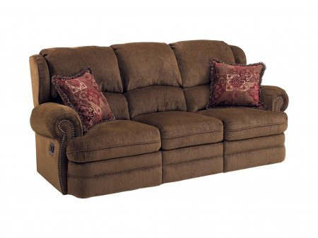 Lane Furniture 203-39-4115-21 Lane Hancock Double Reclining Sofa in Coffee (Simple Solutions