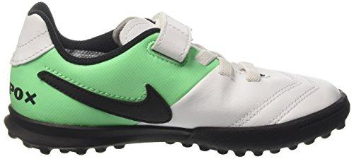 Nike Unisex-Kinder Jr Tiempox Rio Iii (V) Tf Fußballschuhe Mehrfarbig (White/black-electro Green)