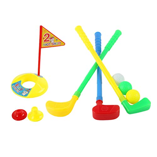 LIOOBO Plastic Golfer Toy Toddler Golf Game Toy Set for Kids Children(Color Randomization)