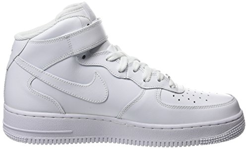 Nike Wmns Air Force 1 '07 Mid - Basket Mujer Blanco (White / White)