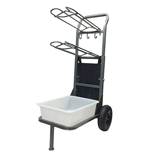 High Country Plastics Two Wheel Saddle Rack Cart by High Country Plastics