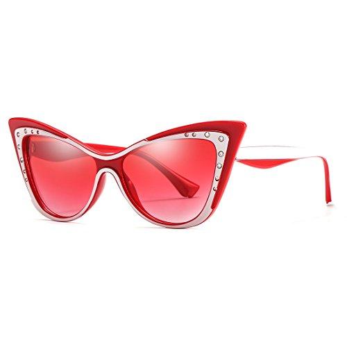 Cat Eye Sharp Corner Rhinestone Vintage Sunglasses for Women