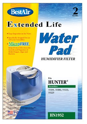 Extended Life Replacement Humidifier Filter (BestAir HN1952 Extended Life Water Pad for Hunter Humidifier Filter, 2-Pack)