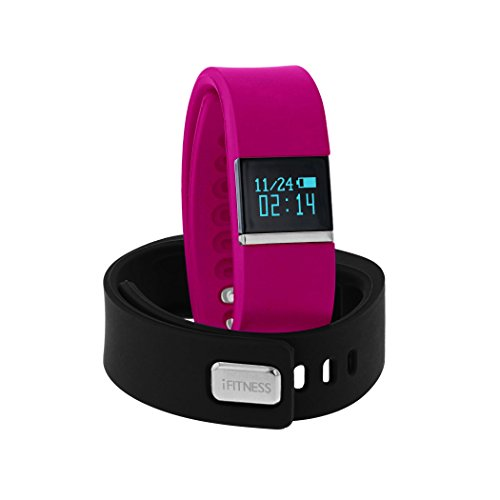 Activity Tracker Watch by iTouch | i-Fitness Activity Tracker Wireless Smart Bracelet Watch (Fuschia/Black)