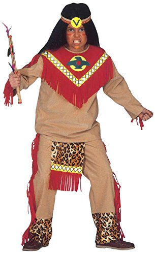 Children's Sitting Bull Child 140cm Costume For Wild West Indian Fancy Dress (Wild West Fancy Dress)