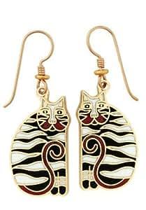Amazon.com: Charles Cat Earrings by Laurel Burch: Dangle