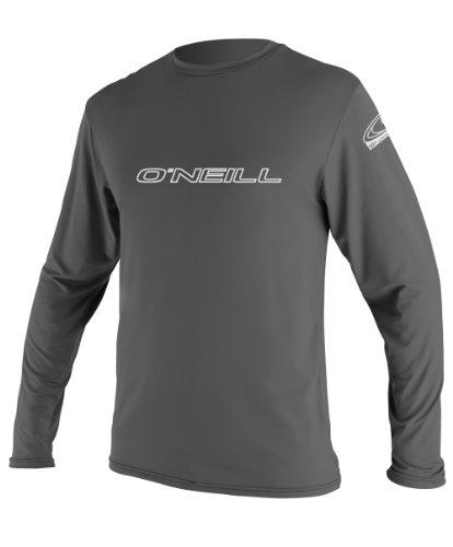 O'Neill Wetsuits Basic Skins Long Sleeve Rash Guard T-Shirt, Graphite, X-Large