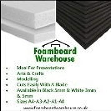 Foam Board A2 White 5mm Thick Mount Board Sign Sheet Craft 420mm X 594mm Strong Packing Other Sign Making Supplies Printing & Graphic Arts